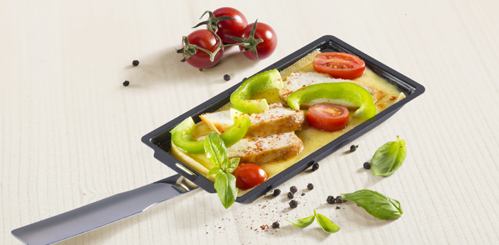 raclette mediterran mit poulet raclette suisse. Black Bedroom Furniture Sets. Home Design Ideas
