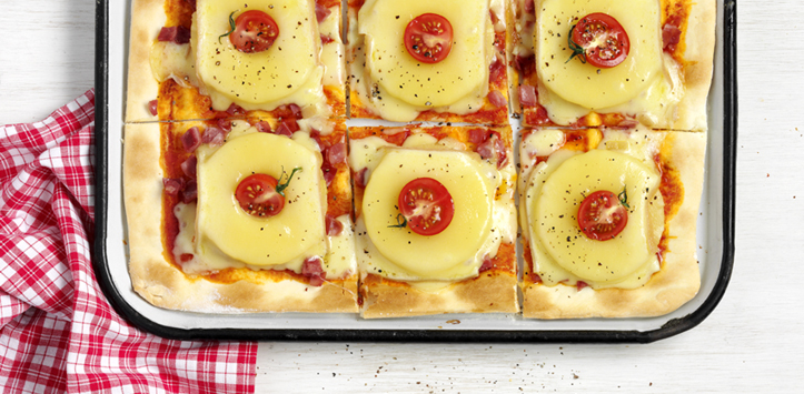 Pizza Hawaii mit Raclette