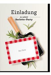 einladungskarten zum raclette event kommen von herzen. Black Bedroom Furniture Sets. Home Design Ideas